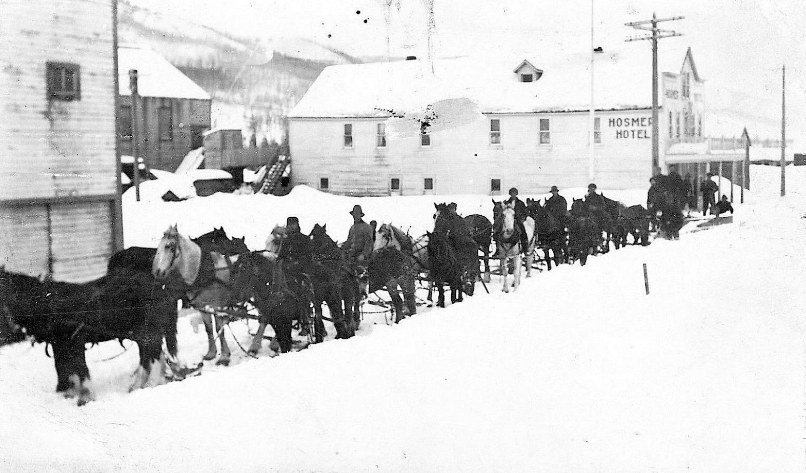 Christmas In Hosmer, 1910